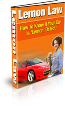 Product picture Lemon Law: How to Know if Your Car is a Lemon or Not (PLR)